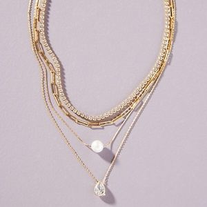 NEW Gold Plated Nicola Layered Necklace